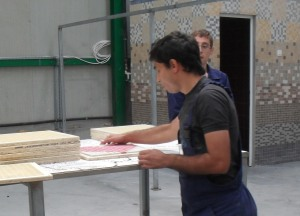 Montarea mozaicului