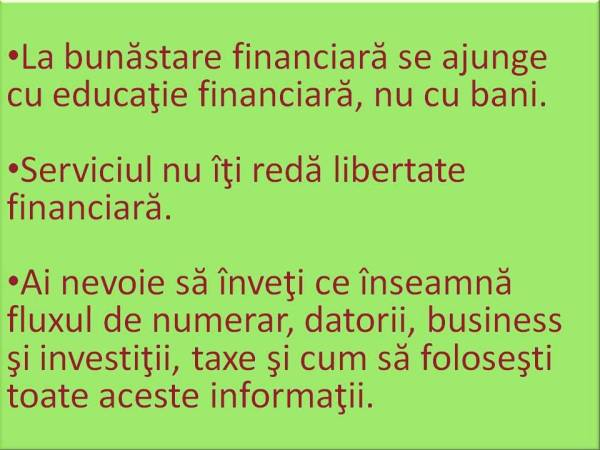 bunastare financiara-Robert Kiyosaki-educatie