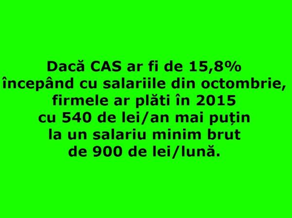 reducerea CAS - scaderea CAS