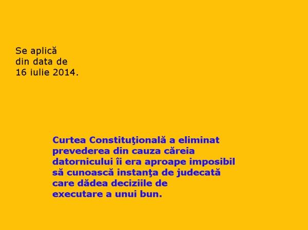 Decizia CCR_executarea silita_executarea bunurilor_judecatorie_executor judecatoresc