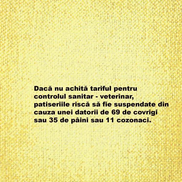 tariful pentru controlul sanitar-veterinar_patiserie_magazin_costuri controale