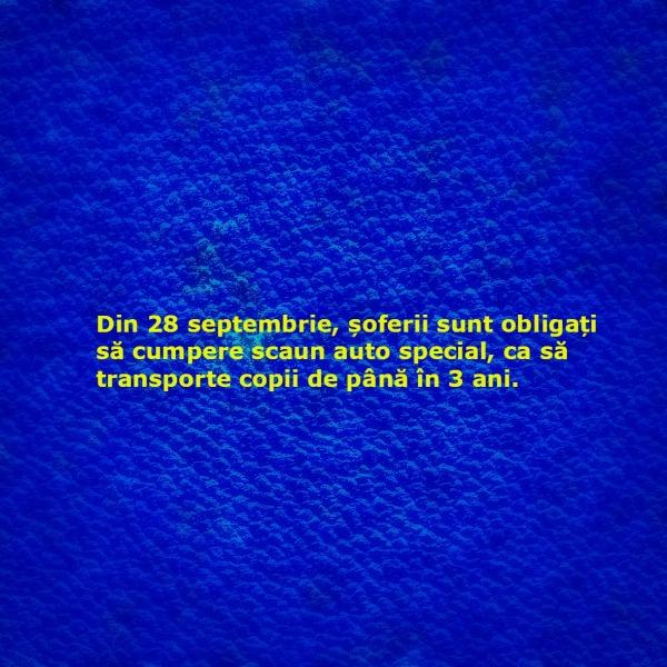 amenda de circulatie_scaun pentru copii_28 septembrie 2014