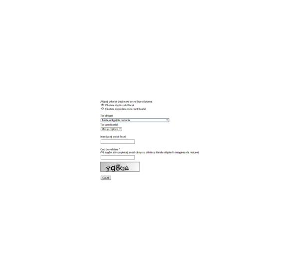 aplicatie_site ANAF_datorii firma_cum afli datorile firmei