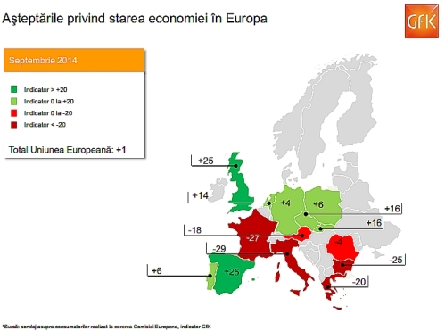 Studiu GfK Consumer Climate Europa, octombrie 2014 1