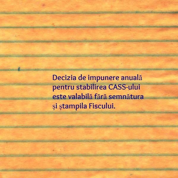 decizia de impunere anuala-CASS_actele administrative valabile fara semnatura si stampila